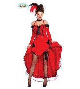 Cannes Cancan Rood Vrouw Kostuum