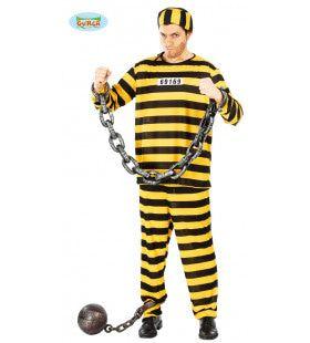 Bajes Klant Geel Zwart Man Kostuum