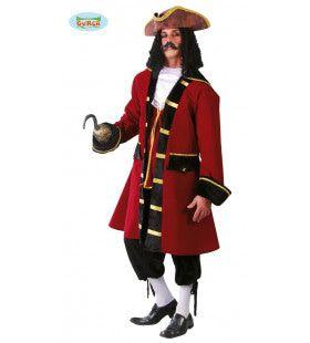 Karel Kaper Piraten Kapitein Man Kostuum
