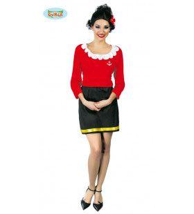 Olijfje Uit Popeye Vrouw Kostuum