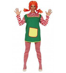 Pippi Het Sterkste Meisje Van Zweden Vrouw Kostuum