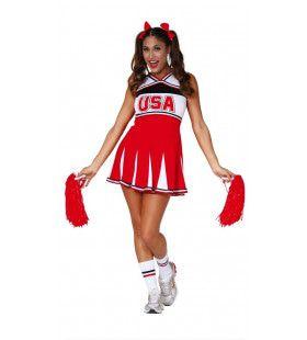 Go Usa Cheerleader Vrouw Kostuum
