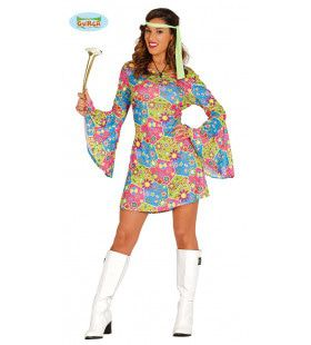 Lovely Love Flower Power Vrouw Kostuum
