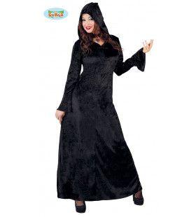 Stijlvolle Gothische Mantel Zwart Vrouw Kostuum