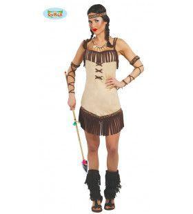 Aantrekkelijke Sioux Vrouw Kostuum