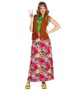 Bloemrijk Happy Hippie Vrouw Kostuum