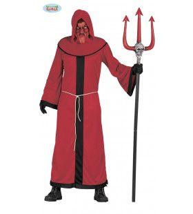 Afschuwelijke Rode Demon Man Kostuum