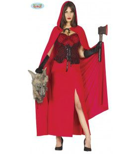 Wolven Jager Roodkapje Vrouw Kostuum
