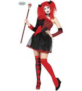 Venijnige Joker Koningin Vrouw Kostuum