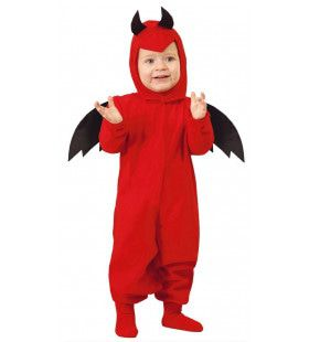 Lief Rood Duiveltje Baby Kostuum