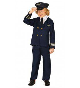 Boeing 747 Piloot Jongen Kostuum