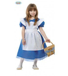 Mini Sprookjes Alice Meisje Kostuum