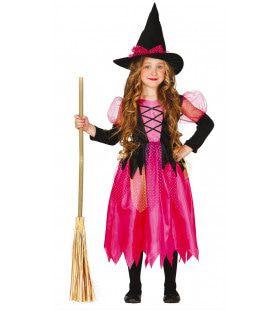 Slechte Roze Heks Meisje Kostuum