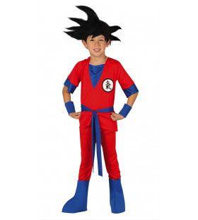 Rode Karate Ninja Jongen Kostuum