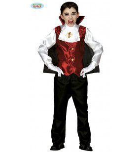 Even Doorbijten Dracula Jongen Kostuum