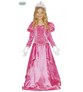 Mierzoet Knalroze Prinses Meisje Kostuum
