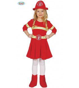 Alles Zo Geblust Brandweer Meisje Kostuum