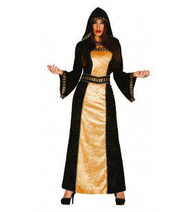 Mysterieuze Middeleeuwse Dame Vrouw Kostuum