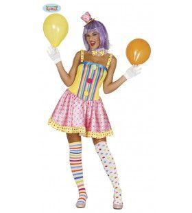 Doldwaze Clown Vrouw Kostuum
