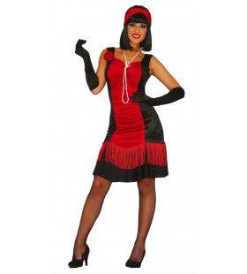 Chicago Jaren 20 Flapper Rood Vrouw Kostuum