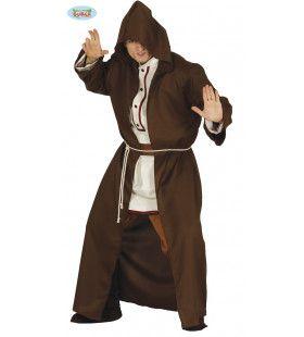 Duistere Da Vinci Monnik Man Kostuum