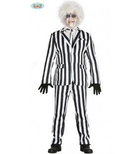 Waanzinnig Druk Gestreept Man Kostuum
