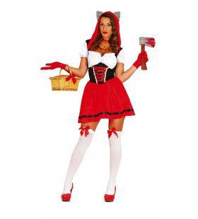 Uitdagend Roodkapje Vrouw Kostuum