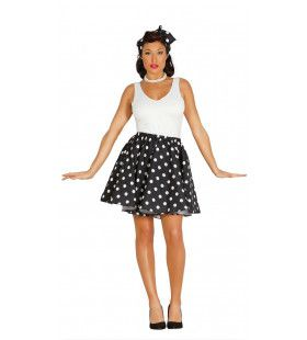 Jaren 50 Pin Up Filmster Zwart Vrouw Kostuum