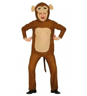 Brutale Bruine Aap Man Kostuum