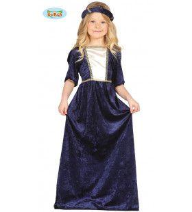 Middeleeuwse Kasteeldame Sanne Meisje Kostuum