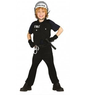 S.w.a.t. Arrestatieteam Politie Jongen Kostuum