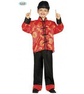 Oosters Shanghai Charlie Jongen Kostuum