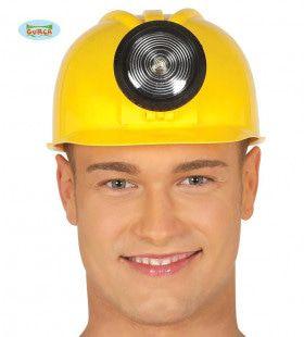 Helm Mijnwerker Bouwvakker Met Lamp
