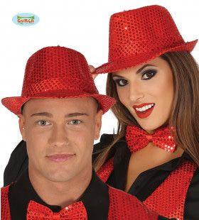 Rode Glitter Hoed Showballet