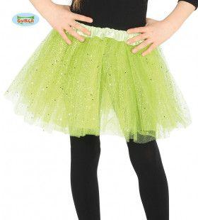 Groene Tutu Met Glitter Regen