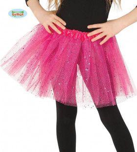 Roze Tutu Met Glitter Regen