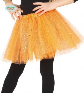 Oranje Tutu Met Glitter Regen Kind