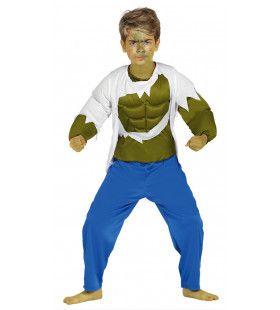 Shirt Te Klein Hulk Jongen Kostuum