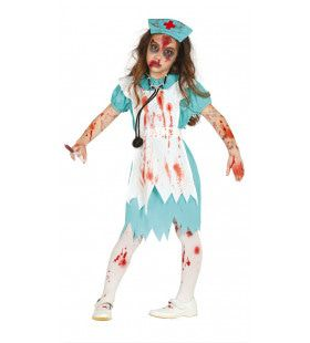 Zombie Ziekenhuis Zuster Meisje Kostuum
