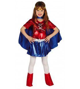 Supersterke Superheldin Meisje Kostuum