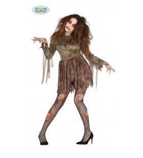 Car Crash Zombie Vrouw Kostuum