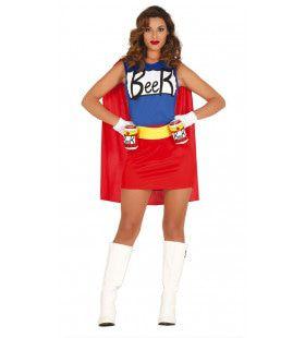 Super Bier Drinker Vrouw Kostuum