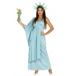 New York Vrijheidsbeeld Vrouw Kostuum