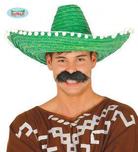Grote Groene Sombrero Met Bolletjes Juan