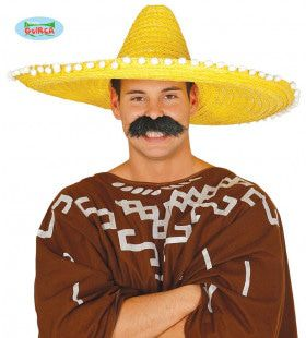 Grote Gele Sombrero Met Bolletjes Juan