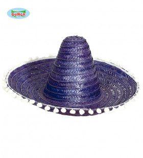 Sombrero Paars Met Bolletjes Christobal