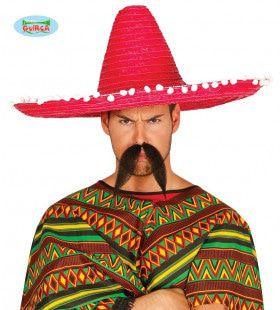 Grote Roze Sombrero Met Bolletjes Juan