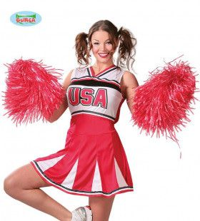 Pompon Cheerleader Rood