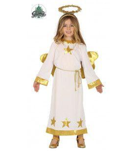 Gouden Ster Engel Meisje Kostuum