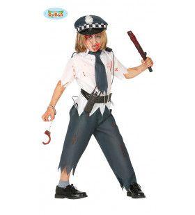 Uit De Hand Gelopen Arrestatie Politie Zombie Jongen Kostuum